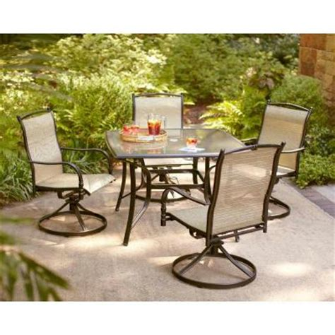 Home Depot Patio Furniture Dining Sets by Hton Bay Patio Tables Altamira Tropical 5 Patio