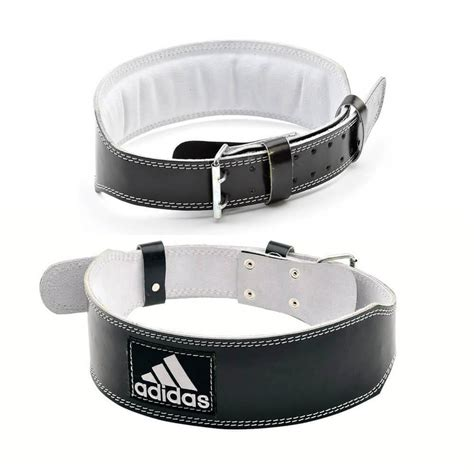 adidas leather weight lifting belt power