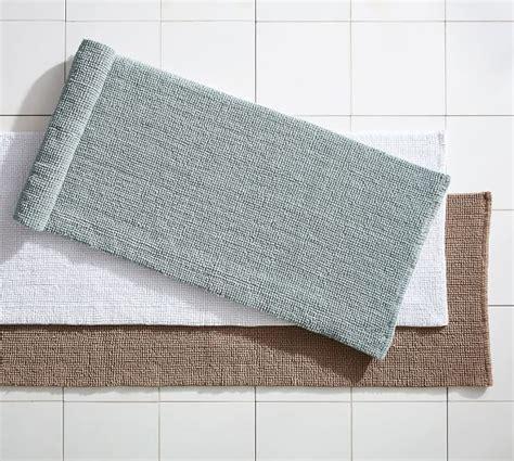 textured organic bath rug wide pottery barn