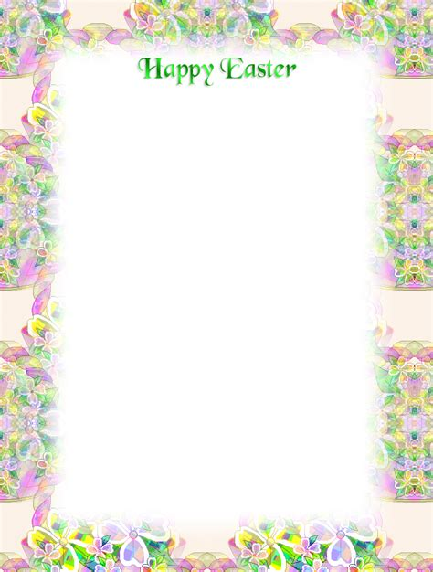 printable easter stationery free printable easter stationery borders