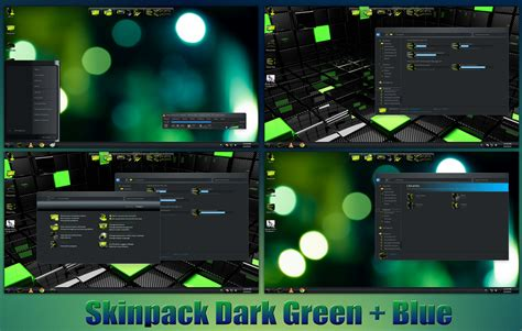 best themes for windows 7 laptop dark green blue skinpack for win7 8 8 1 by thedhruv on