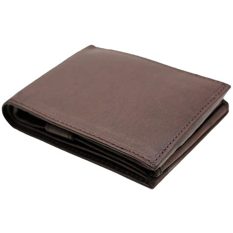 Cctv Walet mens bifold wallet genuine leather flap out security snap