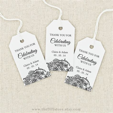 image result for free printable wedding favor tags