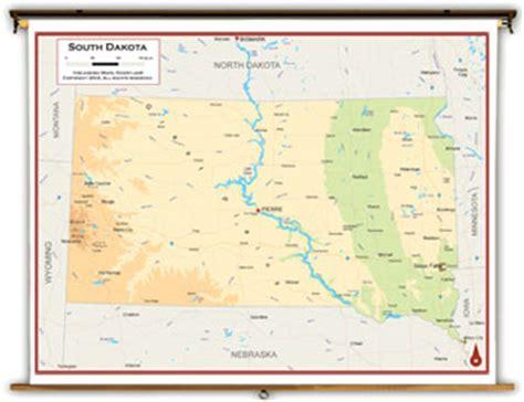 physical map of south dakota south dakota state maps academia maps
