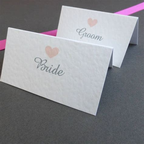 place cards personalised love heart place cards by edgeinspired