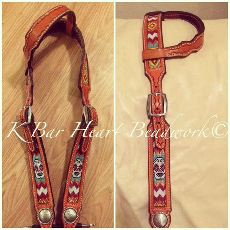 beaded tack beaded headstall with sugar skulls by k bar beadwork