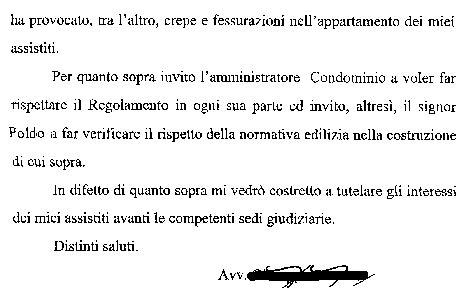 lettere avvocato gli schiamazzi dell inquilino i proprietari di casa