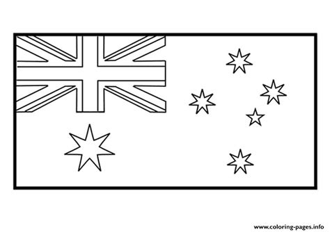 australian flag template to colour australian flag coloring pages printable