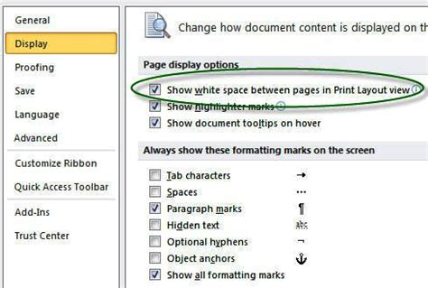 word insert section number sections headers and footers page numbers margins