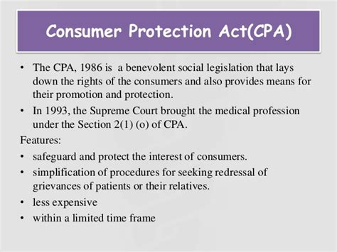 Consumer Protection Act In Medical Profession