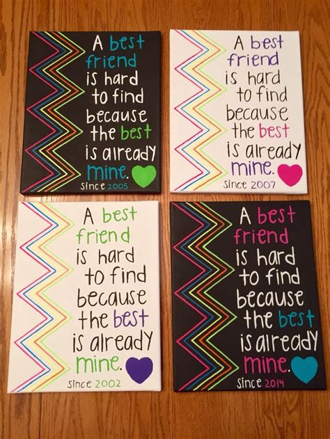 Handmade Best Friend Gifts - wall gift diy gift ideas for best friend