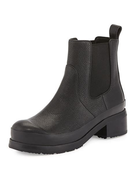 original leather chelsea boots in black lyst