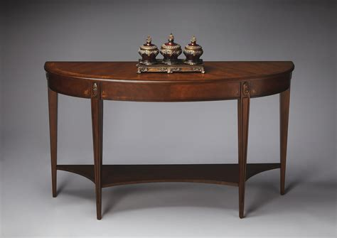 cherry demilune console table butler 4146251 antique cherry demilune console table bt
