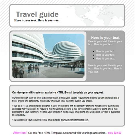 travel email templates travel guide free html e mail templates
