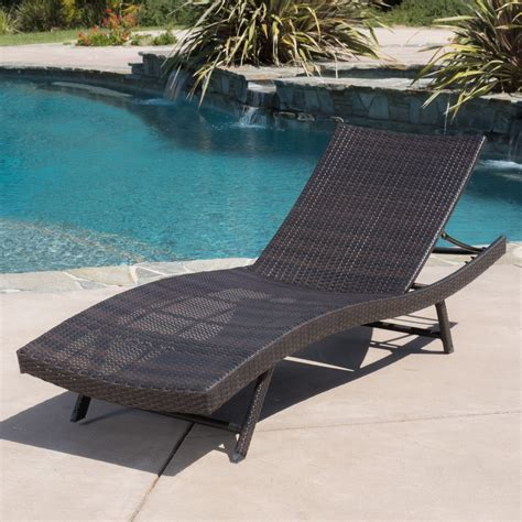 wicker chaise lounge outdoor eliana outdoor 6pc brown wicker chaise lounge chairs set