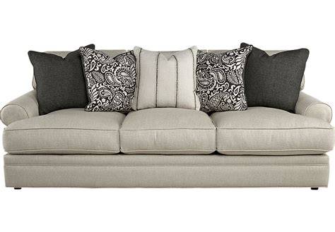 square sofas cindy crawford home lincoln square beige sofa sofas beige