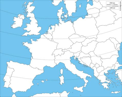 blank map of central europe western and central europe free map free blank map free