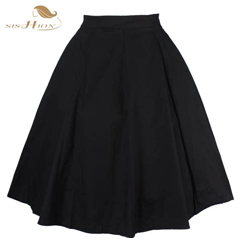 2017 new fashion black skirt high waist plus size