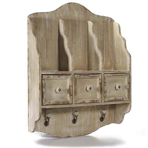 ganci per mensole mensola piattaia in legno con tre cassetti 3 mensole e