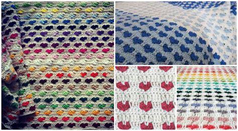 heart pattern crochet blanket crochet heart stitch blanket video tutorial pretty ideas