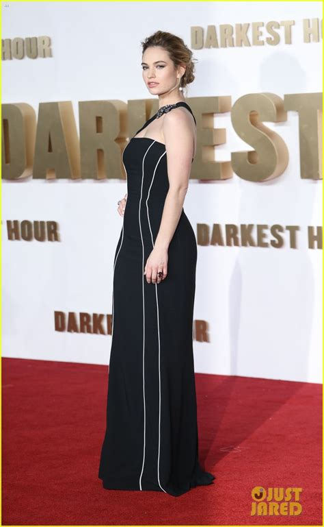 darkest hour uk premiere lily james is a burberry babe at darkest hour uk premiere