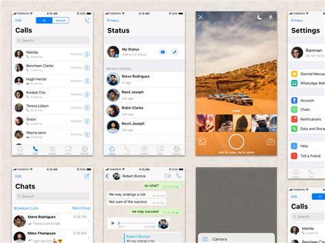 novo layout whatsapp iphone whatsapp ios 11 sketch hints