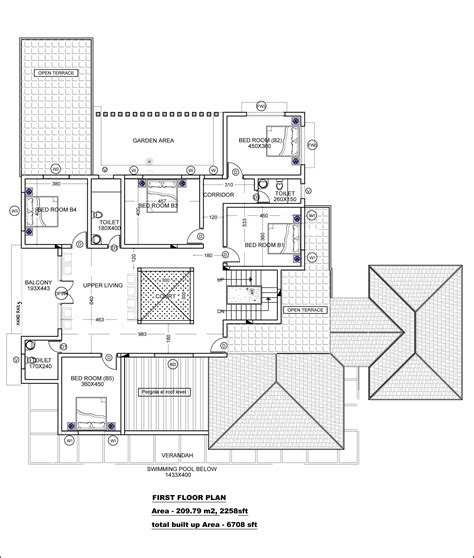 house design floor plans modern beautiful kerala house with plans