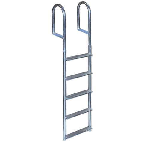 docks 5 step wide rung aluminum dock ladder td 20260