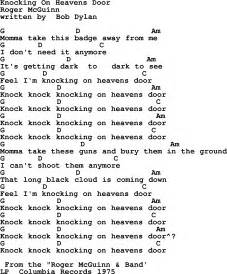 knocking on heavens door by the byrds lyrics and chords