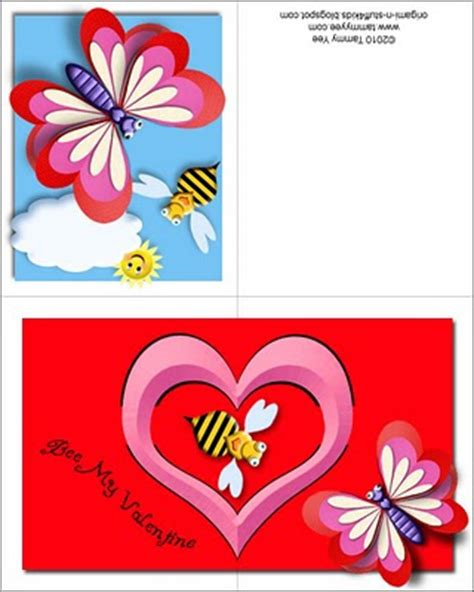 Valentines Stuffers From 400 Up by Origami N Stuff 4 Bee Mine Pop Up Card