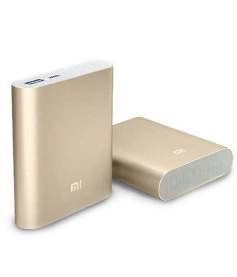 Power Bank Xiaomi 10400 Asli xiaomi power battery bank 10400 mah gold with silicon