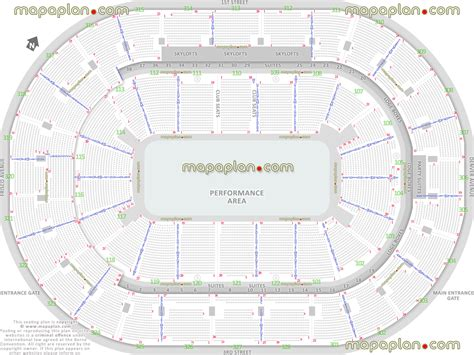 bok center tulsa seating chart bok center performance area for shows half house