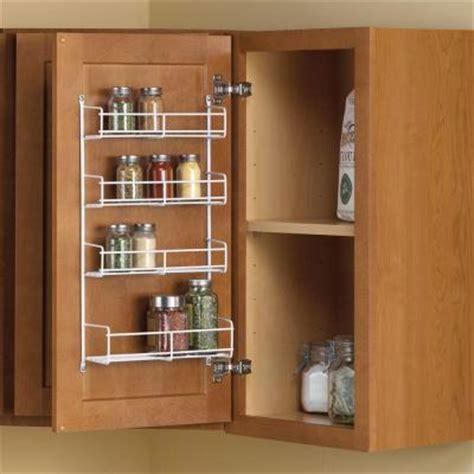 Knape Vogt 11 25 In X 4 69 In X 20 In Door Mount Spice Racks For Cabinet Doors