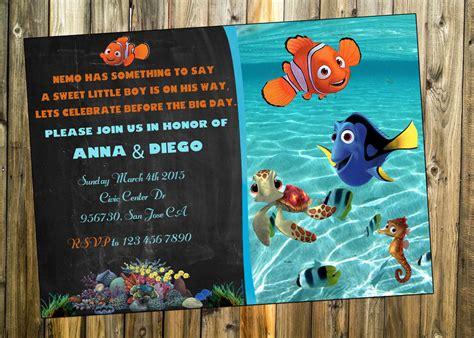 Free Printable Finding Dory Invitations Ideas Free Invitation Templates Drevio Finding Nemo Invitation Template Free