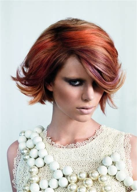 exles of funky high lights for short hair blonde highlights on funky red hair colorful manes