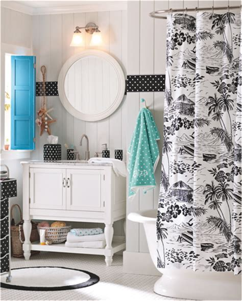 Gray Ruffle Shower Curtain Key Interiors By Shinay Teen Girls Bathroom Ideas