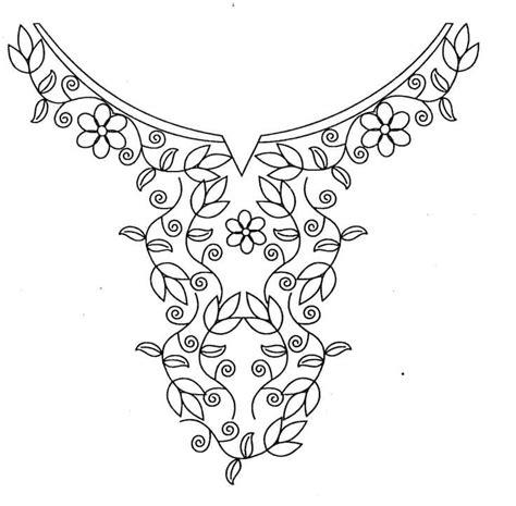 Kurtis Pattern Vector | hand embroidery designs for kurtis neck simple craft ideas