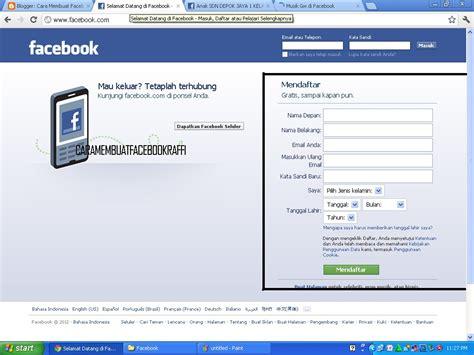 membuat facebook ulang raffi iskandar blog cara membuat facebook