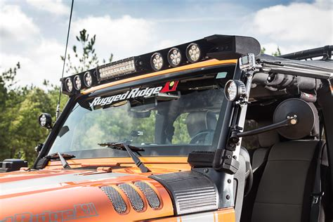 rugged ridge light bar light up the trails with the modular light bar from rugged