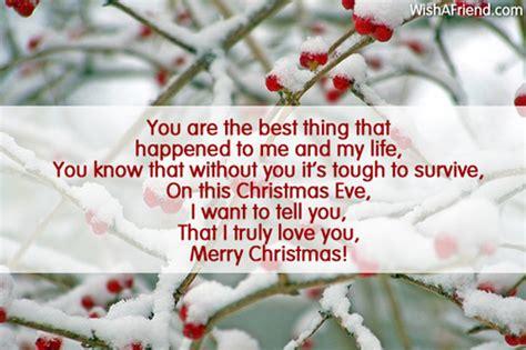 christmas message  boyfriend