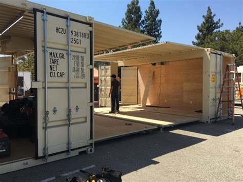 Construire Un Carport Pour Cing Car by Shipping Container Conversion To Woodshed Classroom