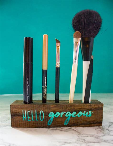 pattern for makeup brush holder how to make a wooden makeup brush holder