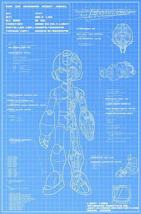 how to make a blueprint megaman blueprint by felolira on deviantart
