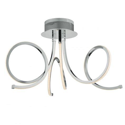 dar lighting tiro 3 light led semi flush ceiling fitting