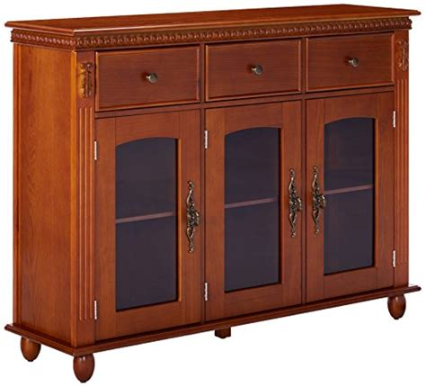 buffet table with glass doors brand furniture wood with glass doors console