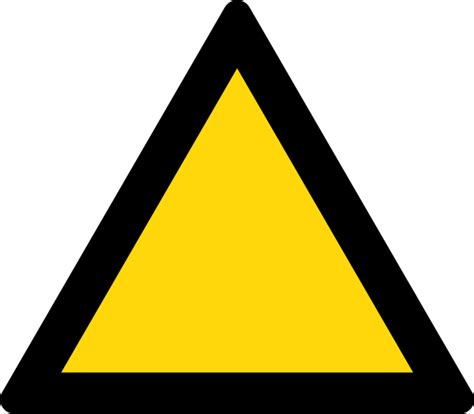 file triangle warning sign black and yellow svg
