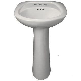 Proflo Kitchen Sinks Proflo Pf1045wh White Bathroom Sink Pedestal Only Faucetdirect
