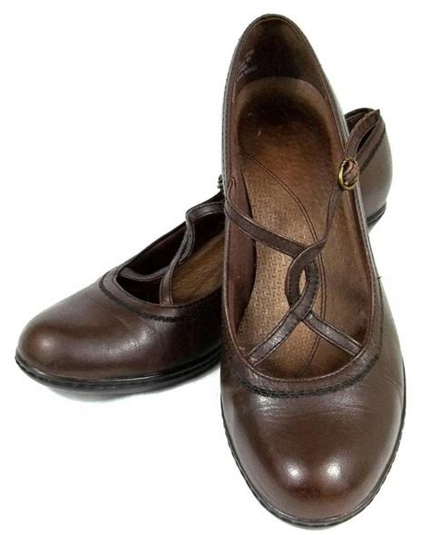comfort womens dress shoes clarks brown leather strappy heels pumps comfort dress