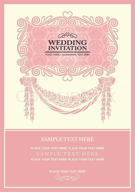 invitation design graphics wedding invitation card abstract background vintage