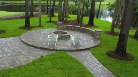 firepit pavers ponte vedra paver patio design and construction with seat